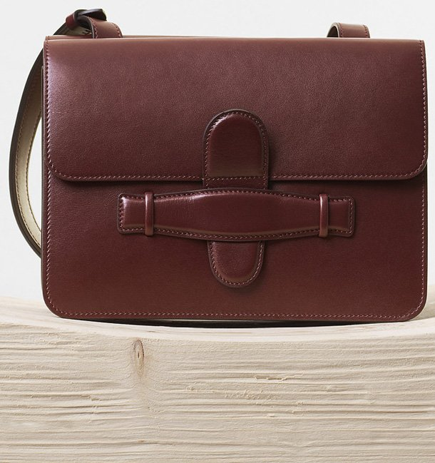 Celine-Symmetrical-Bag-in-Burgundy-Natural-Calfskin