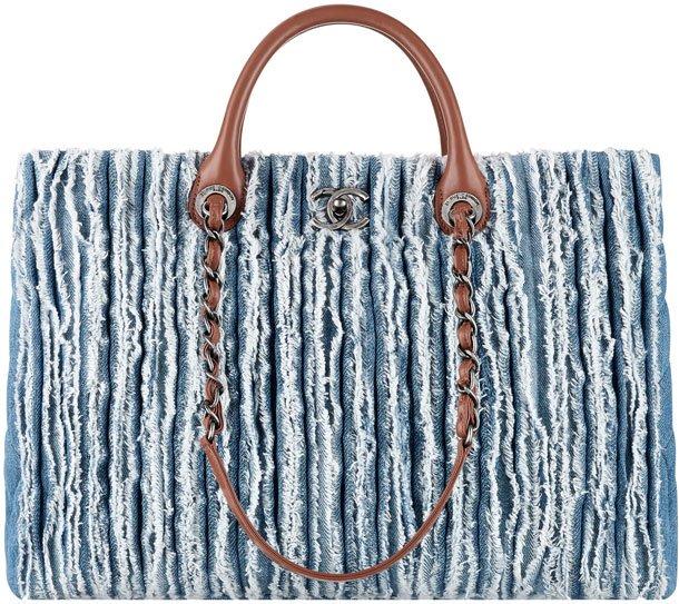 Chanel-Denim-Large-Fringed-Shopping-Tote