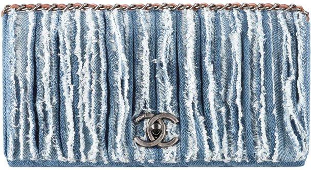 Chanel-Fringed-Denim-Flap-Bag