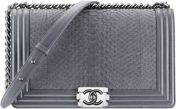 Chanel-Grey-Python-Boy-Flap