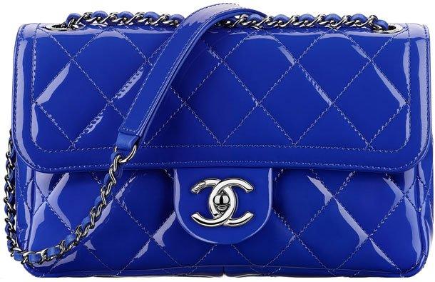 Chanel-Patent-Blue-Flap-Bag