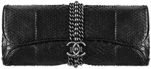 Chanel-Python-Evening-Clutch-with-Chain-Bag