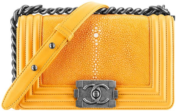 Chanel-Small-Galuchat-Boy-Flap-Bag-Yellow