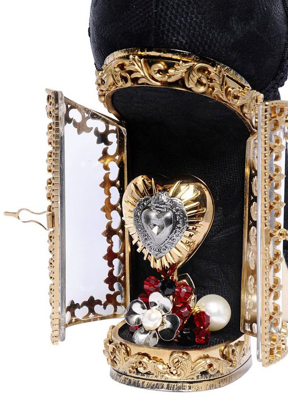 dolce and gabbana sacred heart shoulder bag