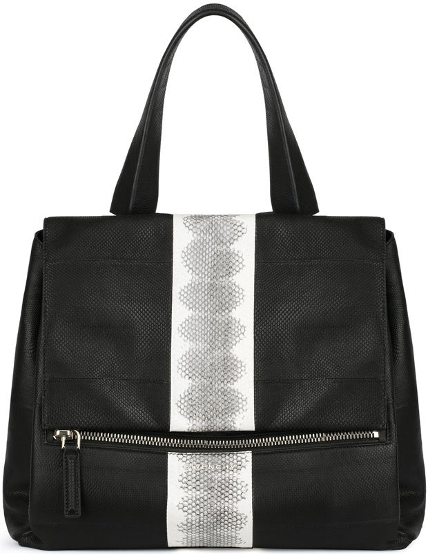 Givenchy-Pandora-Pure-medium-bag-in-contrasted-watersnake