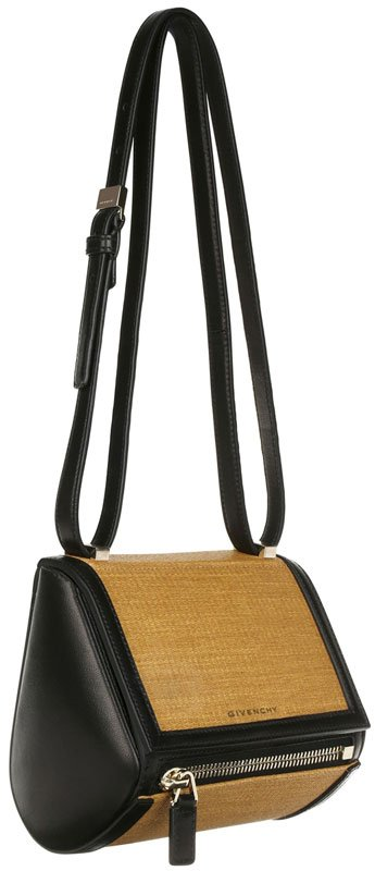Givenchy-Pandora-box-small-bag-in-raffia-and-smooth-leather