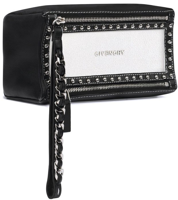 Givenchy-Pandora-wristlet-pouch-in-grained-leather-and-studded-frame
