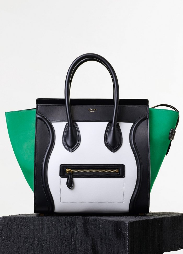 Mini Luggage Handbag in Palm Smooth Calfskin and Nubuck
