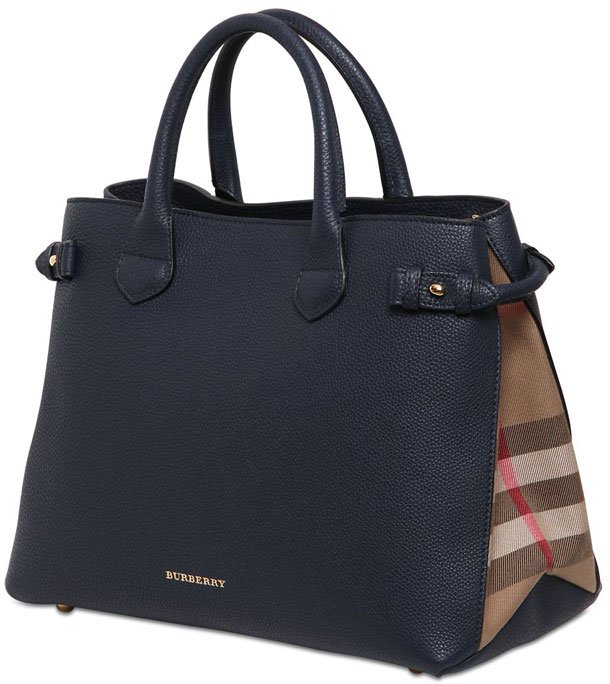 Burberry-Banner-Check-Leather-Bag
