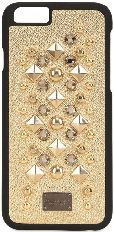 Dolce-Gabbana-Studded-Golden-iPhone-Case