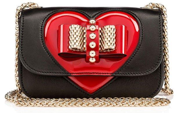 christian louboutin heart purse