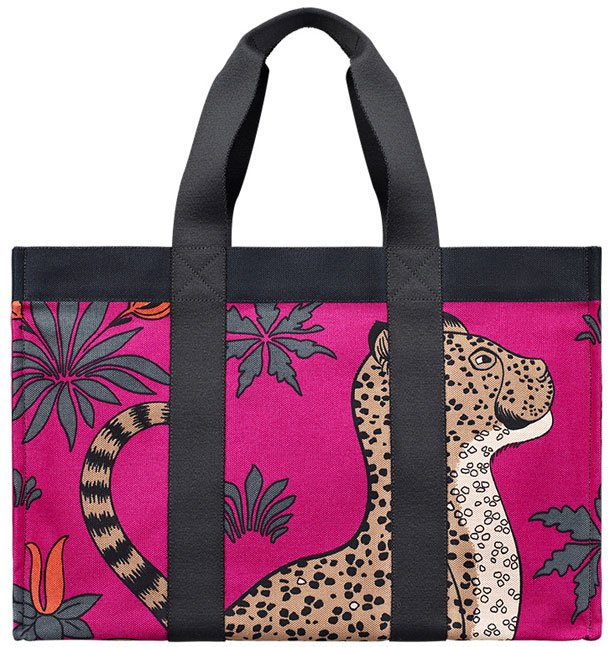 Hermes-leopard-beach-bag-purple