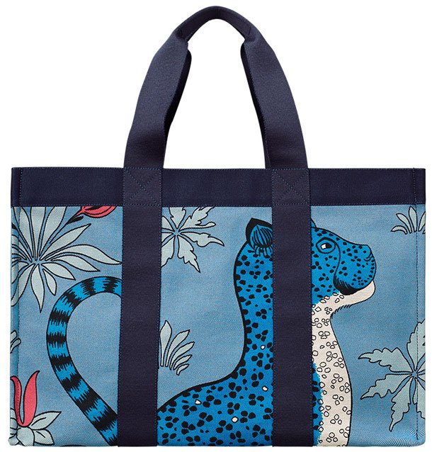 Hermes-leopard-beach-bag