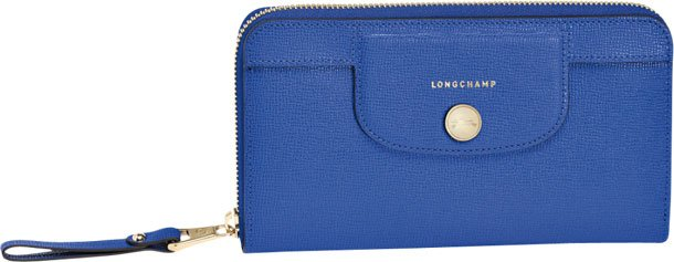Longchamp-Le-Pliage-Heritage-Wallet-blue