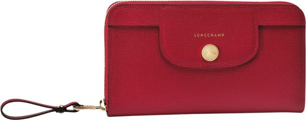 Longchamp-Le-Pliage-Heritage-Wallet-red
