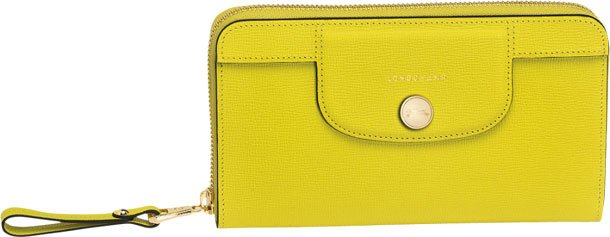 Longchamp-Le-Pliage-Heritage-Wallet-yellow