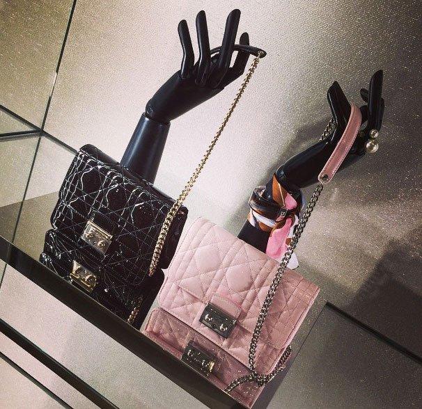 3ff535e85b08 Street Snaps  Miss Dior Mini Pouch With Chain – Bragmybag