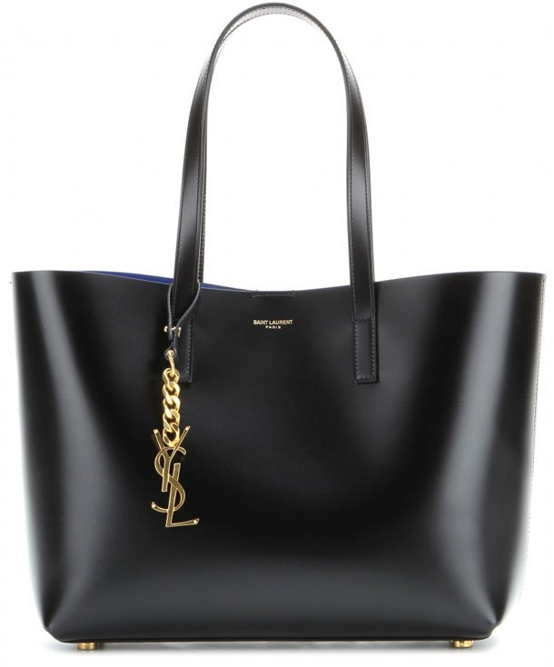 Saint-Laurent-Monogram-Leather-Tote
