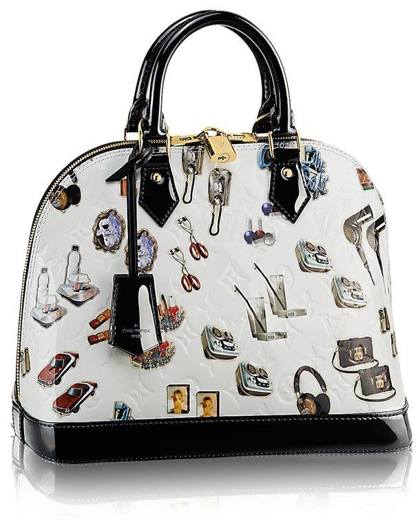 Louis vuitton alma sticker monogram vernis handbag