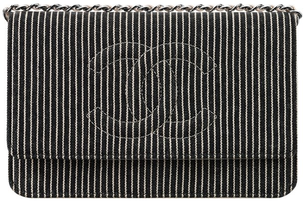 Chanel-Striped-Denim-Wallet-On-Chain