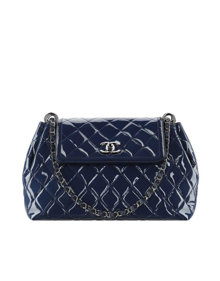 Chanel Patent Quilted Wallet On Chain Bragmybag