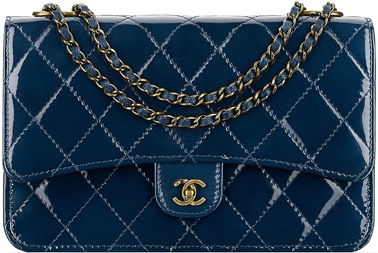 Chanel-Patent-Quilted-Wallet-On-Chain-5