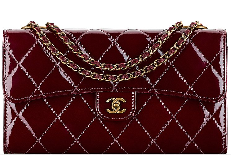 Chanel-Patent-Quilted-Wallet-On-Chain