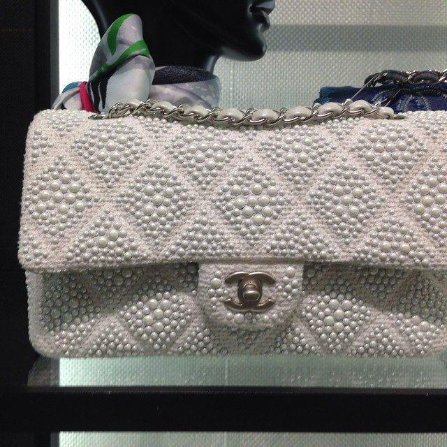 c057cf07d380b9 Chanel Pearl Classic Flap Bag | Bragmybag
