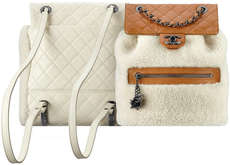 Chanel-Shearling-Backpack