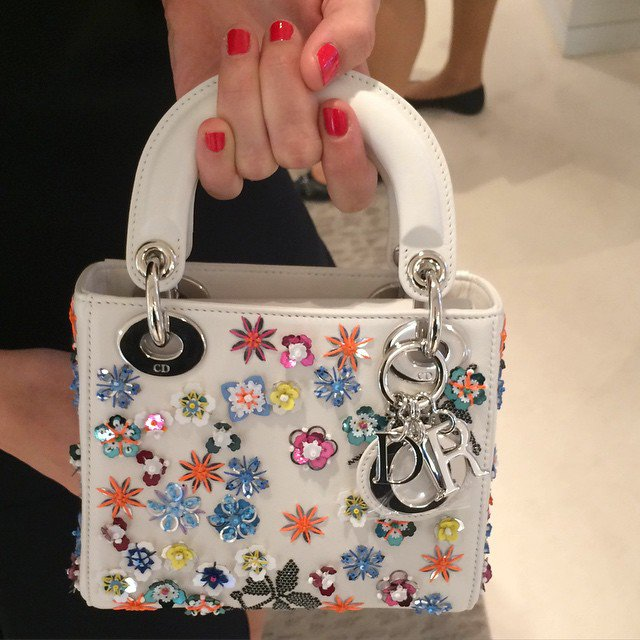 Dior-Flower-Embellished-Tote-Bag