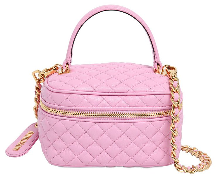 Moschino Quilted Make-Up Bag   Bragmybag : pink quilted bag - Adamdwight.com