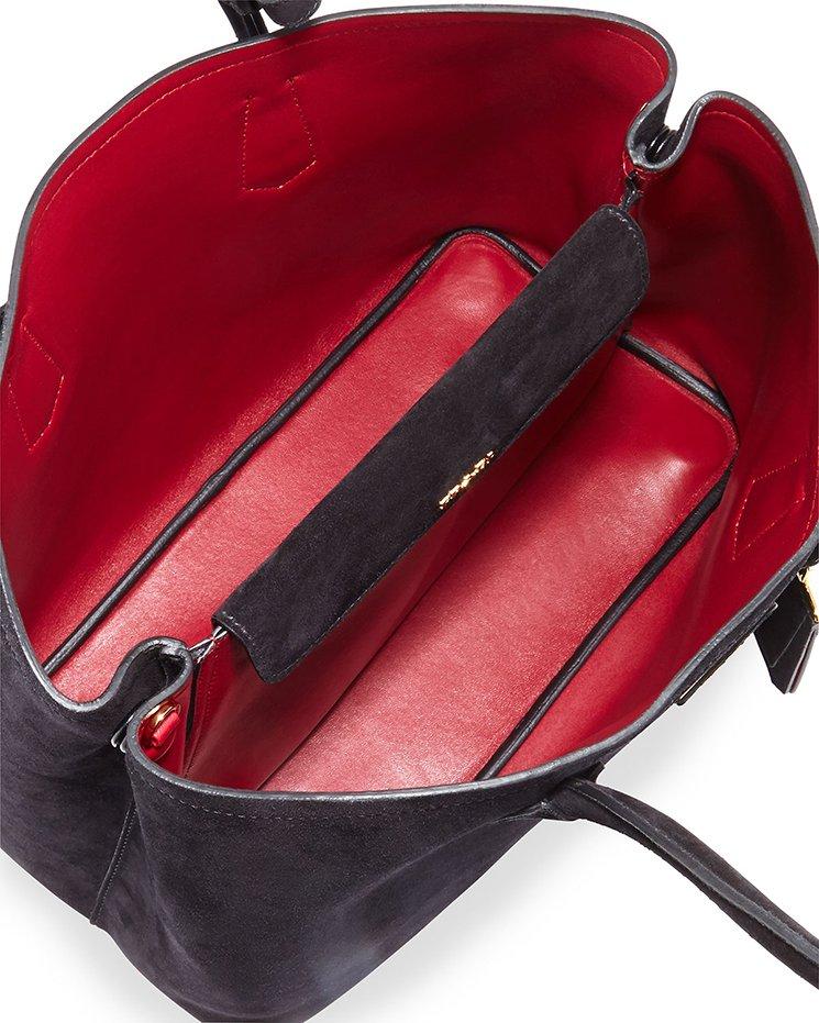 Prada Suede Double Tote Bag Bragmybag