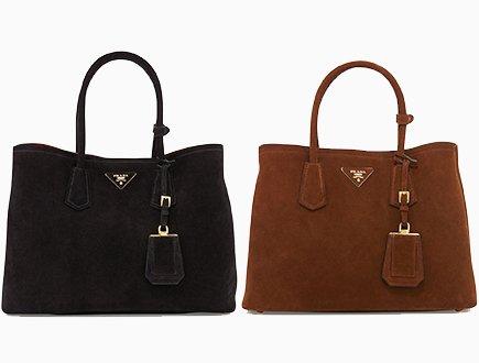 e85feace29345 Prada Suede Double Tote Bag