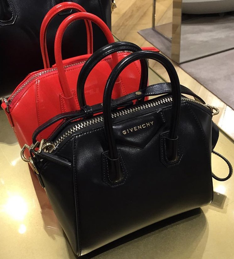 Givenchy Top Handle Handbag, Mini Antigona, Black, Leather, 2017, one size