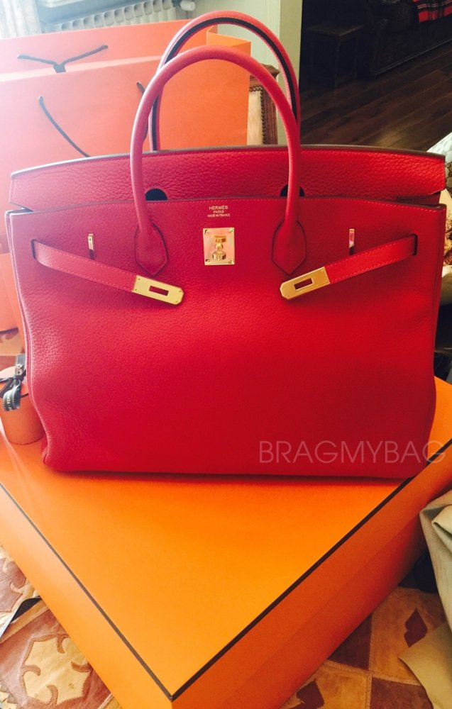 Hermes Birkin Tote Bag Red