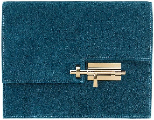 Hermes-Verrou-Pochette-Bag-Green