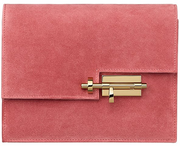 Hermes-Verrou-Pochette-Bag-Pink
