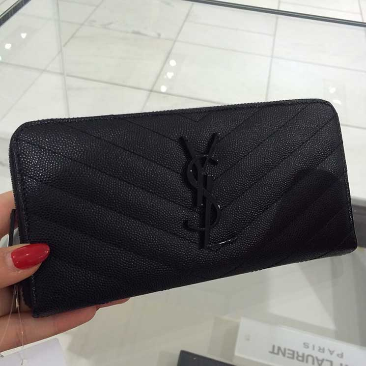 A Closer Look: Yves Saint Laurent Monogram Wallet | Bragmybag