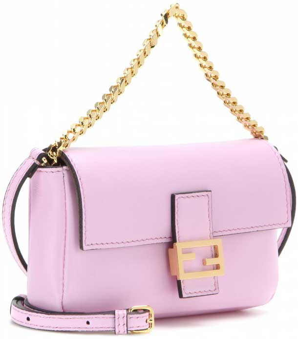 Fendi-Pink-Micro-Baguette-Chain-shoulder-bag-2