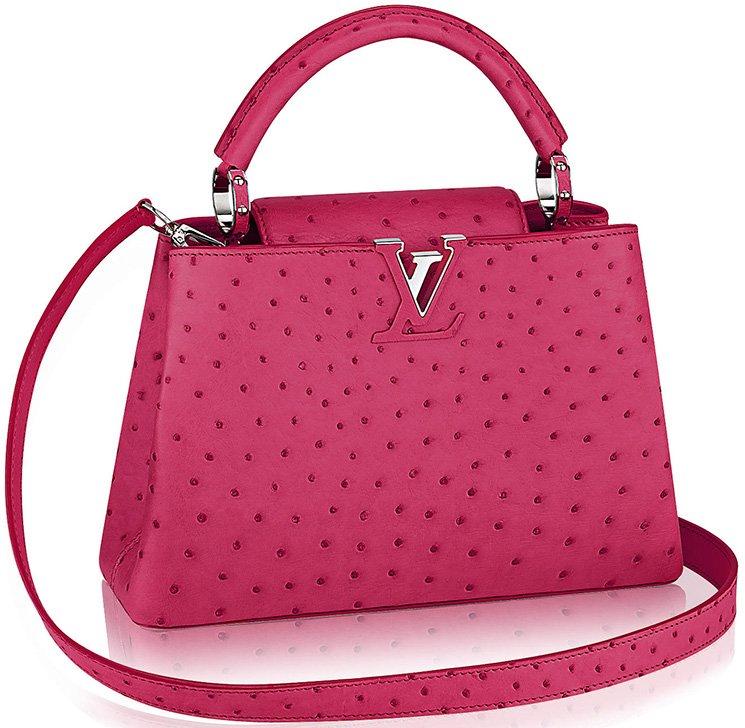 3eae3d8cefa0 Louis Vuitton Capucines Bags in Ostrich