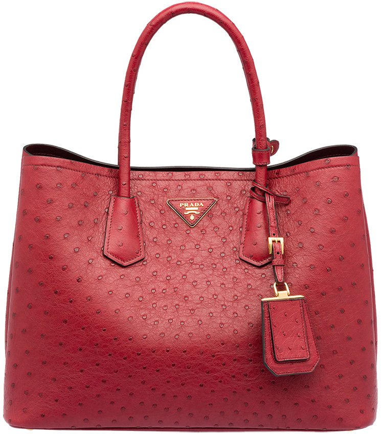 handbags by prada - Prada Saffiano Cuir Ostrich Tote Bags | Bragmybag