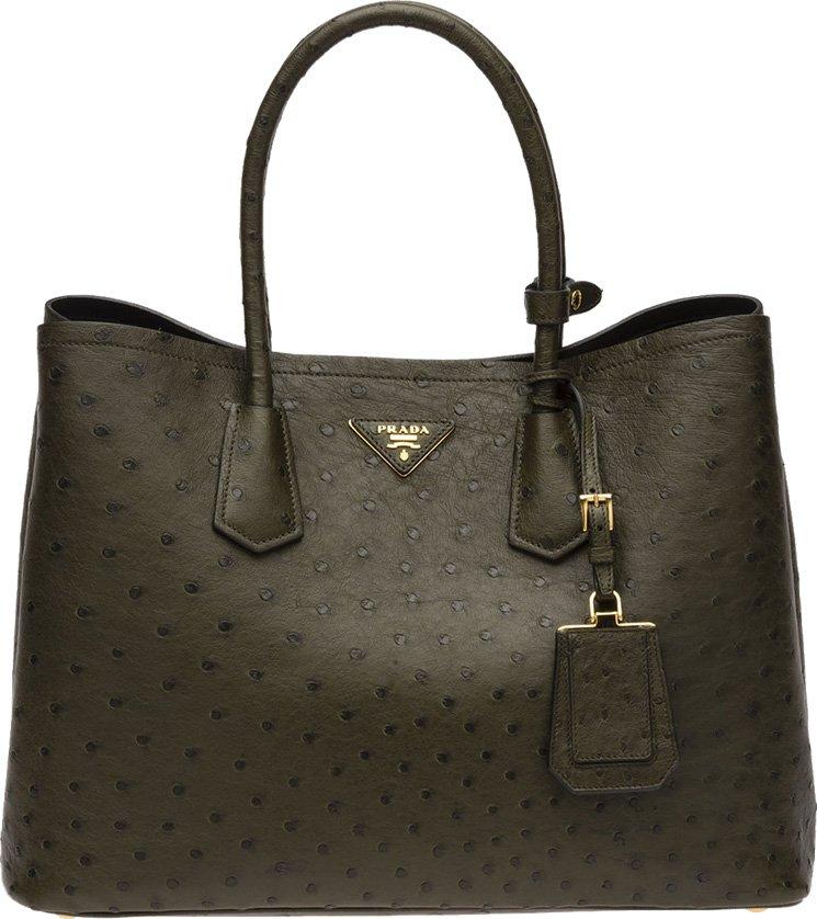 17c2d883f66f5e Prada Saffiano Cuir Ostrich Tote Bags | Bragmybag