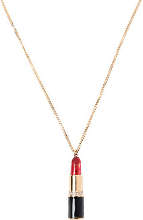 Saint-Laurent-Lipstick-Earring-and-Necklace