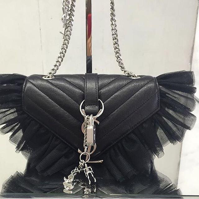 A-Closer-Look-Saint-Laurent-Classic-Baby-Monogram-Punk-Chain-Bag