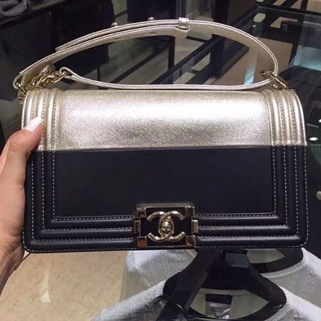 2a7def3feb5e Chanel Boy Bag Black And Silver   Stanford Center for Opportunity ...