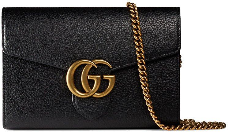 3d3df4c4004e Gucci GG Marmont Chain Wallets | Bragmybag