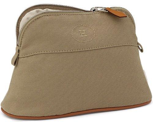hermes orange cotton travel bag bolide