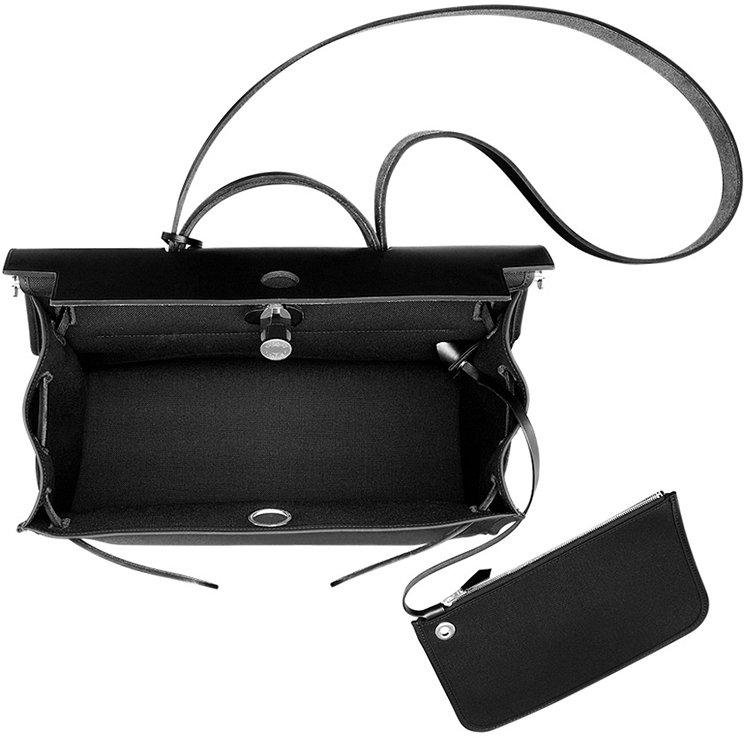 Hermes Herbag Zip Black Canvas Bag | Bragmybag