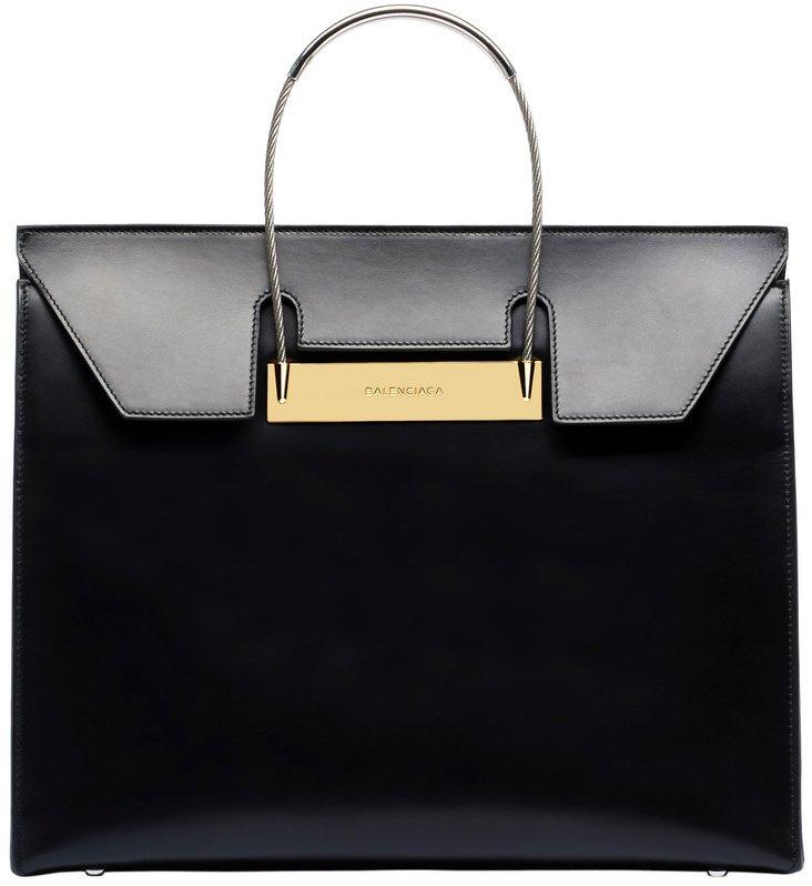 Balenciaga-Cable-Flap-Shopper-M-Bag
