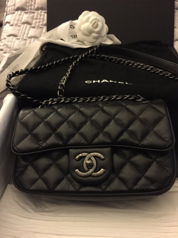eff888175945 Shopping with Kimberly  I found the Chanel Easy Lambskin Flap Bag ...
